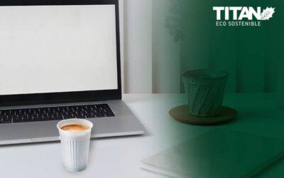 ¿Café de máquina en vaso compostable?